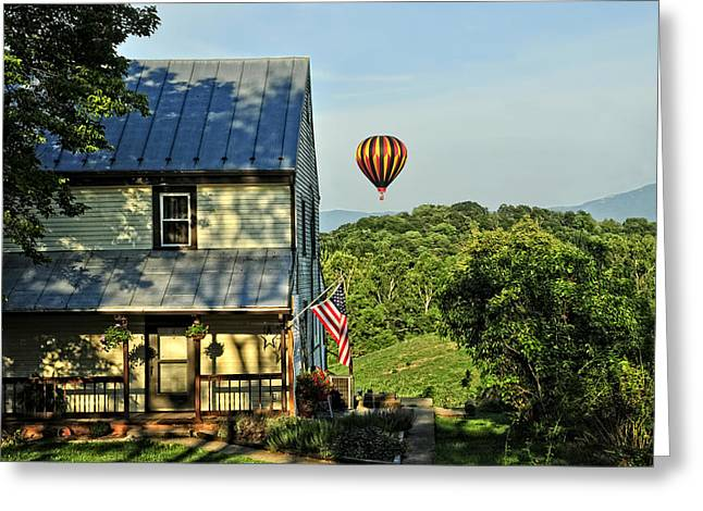 Balloon Country  Greeting Card by Lara Ellis