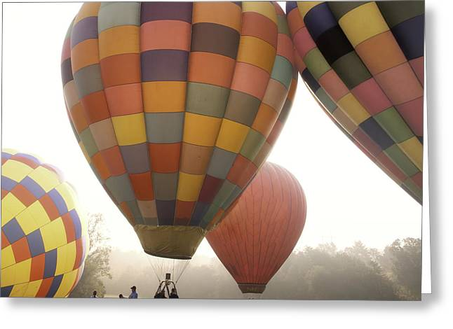 Hazy Days Greeting Cards - Balloon Day is a Happy Day Greeting Card by Rob Travis