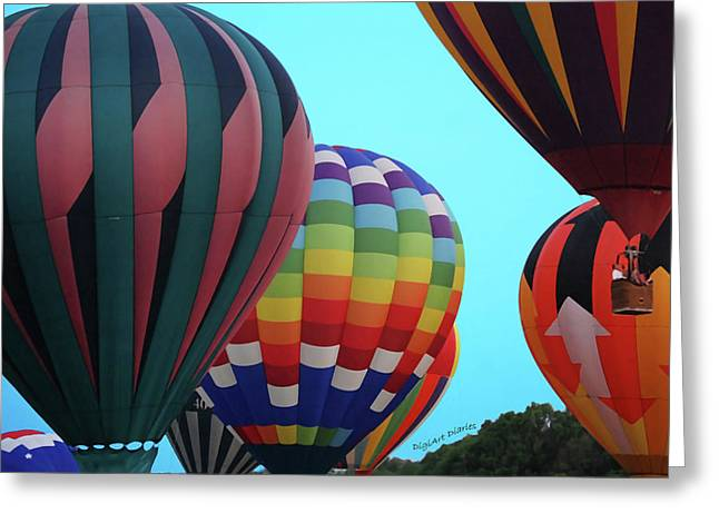 Smyrna Greeting Cards - Balloon Glow I Greeting Card by DigiArt Diaries by Vicky B Fuller