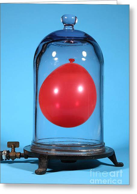 Science Greeting Cards - Balloon In A Vacuum, 5 Of 6 Greeting Card by Ted Kinsman