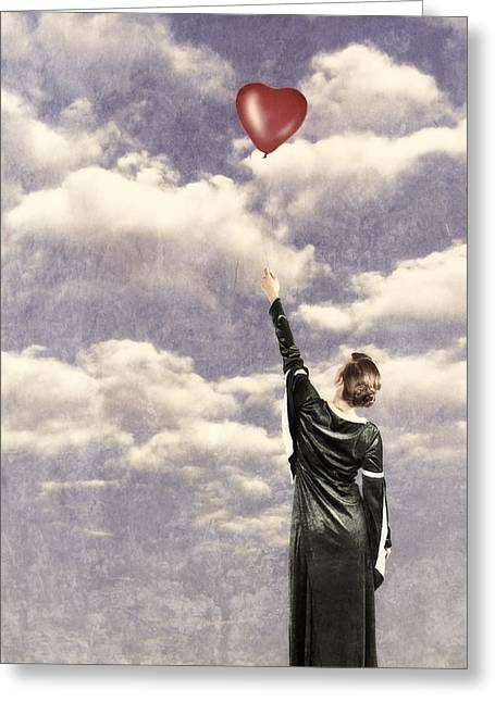 Period Greeting Cards - Balloon Greeting Card by Joana Kruse