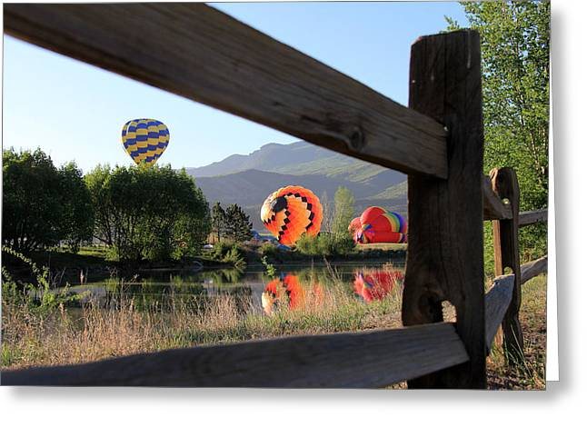 Vroom Greeting Cards - Balloon Launch-Ridgway 2012 Greeting Card by Marta Alfred