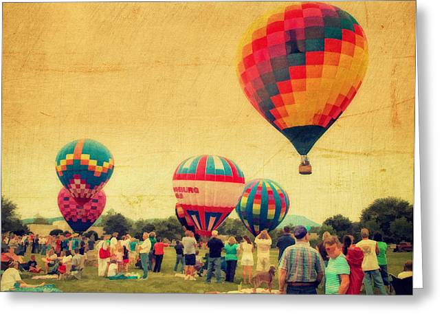 Rally Greeting Cards - Balloon Rally Greeting Card by Kathy Jennings