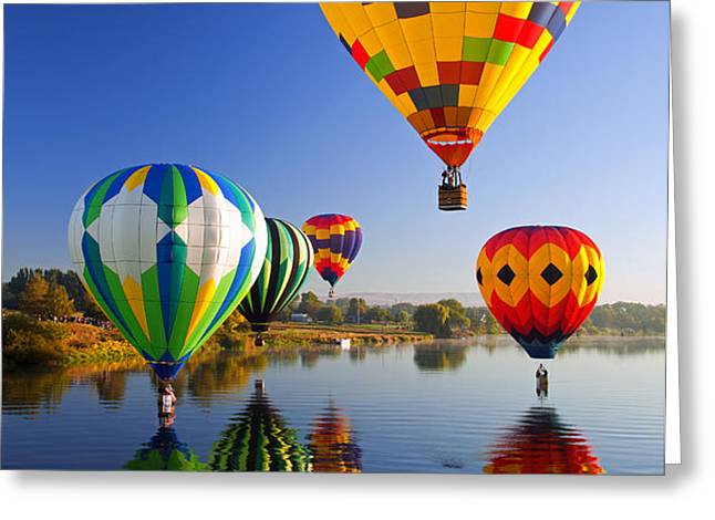 Balloon Reflections Greeting Card by Mike  Dawson