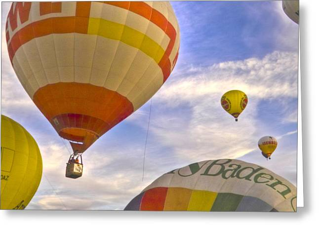 Leisure Time Greeting Cards - Balloon Ride Greeting Card by Heiko Koehrer-Wagner