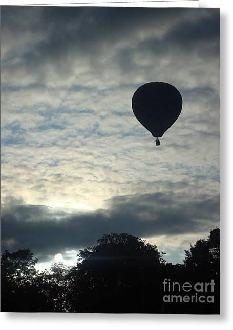 Balloon Shadow Greeting Card by Tina McKay-Brown