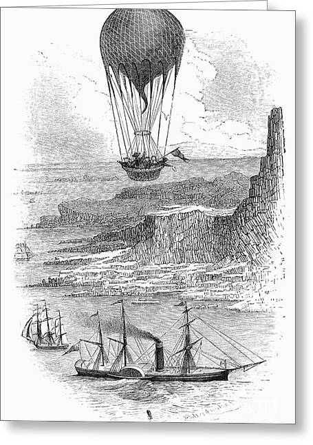 Griswold Greeting Cards - Balloon Travels, 1855 Greeting Card by Granger