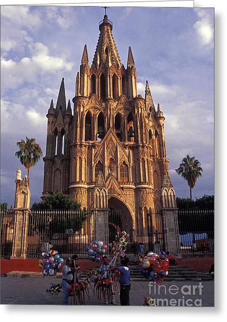 Balloon Vendor Greeting Cards - BALLOON VENDORS San Miguel de Allende Mexico Greeting Card by John  Mitchell