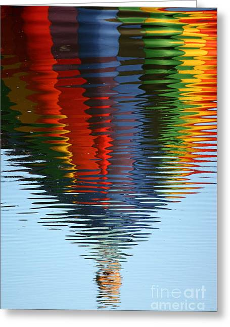Reflection On Water Greeting Cards - Balloon Waves Greeting Card by Carol Groenen