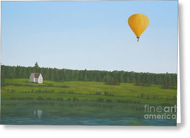 Princes Greeting Cards - Ballooning in Prince Edward Island Greeting Card by Phyllis Andrews