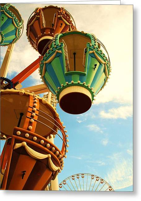 Amusement Ride Greeting Cards - Balloons Greeting Card by Amanda Romolini