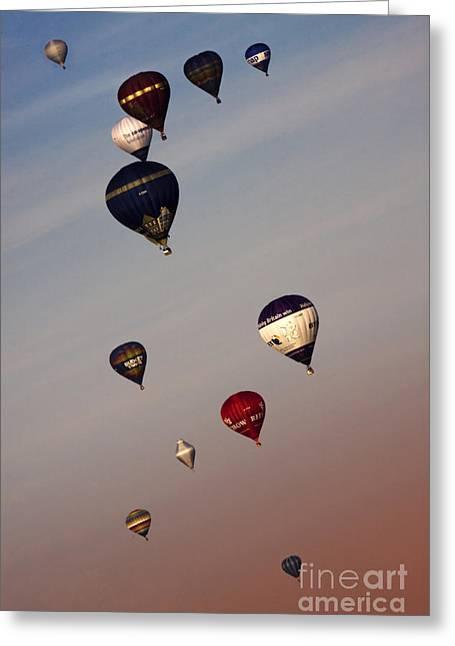 Balloon Fiesta Greeting Cards - Balloons Greeting Card by Angel  Tarantella