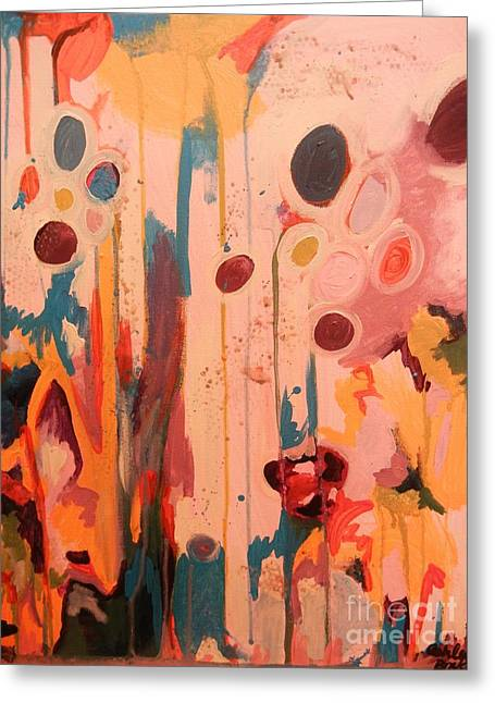 Transfer Paintings Greeting Cards - Balloons Greeting Card by Ashley Brake