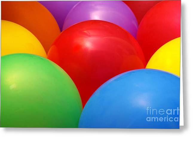 Balloons Background Greeting Card by Carlos Caetano