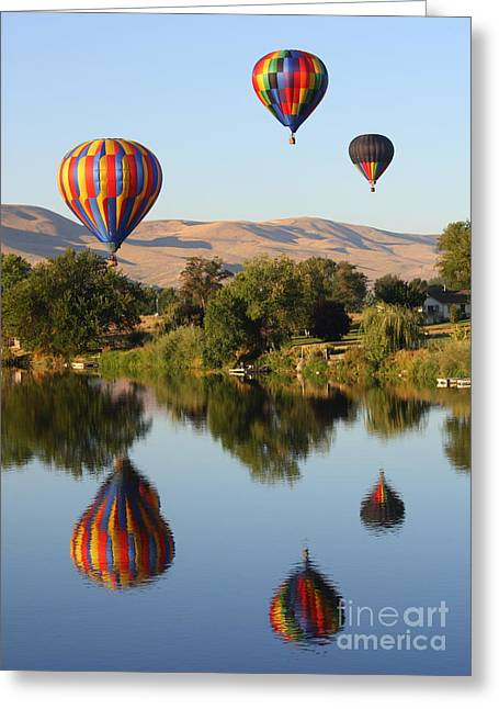 Yakima Valley Greeting Cards - Balloons over Horse Heaven Greeting Card by Carol Groenen
