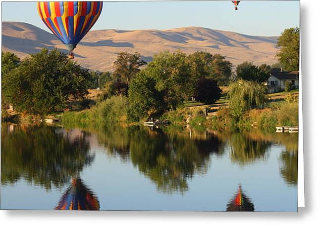 Balloons over Horse Heaven Greeting Card by Carol Groenen