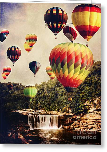 Many Greeting Cards - Balloons Over the Cumberland Greeting Card by Stephanie Frey