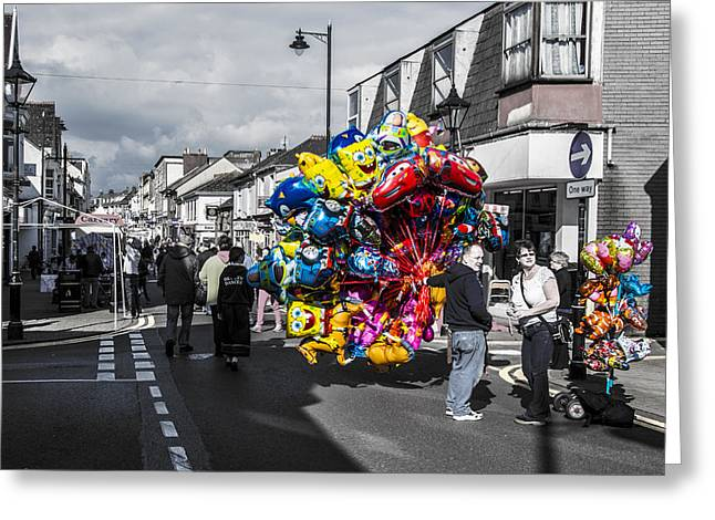 Camborne Greeting Cards - Balloons Greeting Card by Paul Howarth