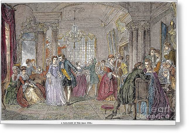 Ball Gown Greeting Cards - Ballroom, 1760 Greeting Card by Granger