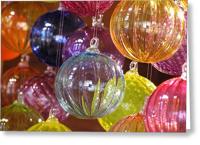 Glass Ball Greeting Cards - Balls of Glass Greeting Card by Richard Mansfield