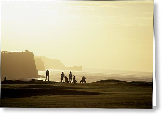 Golfcourse Greeting Cards - Ballycastle Golf Club, Co Antrim Greeting Card by The Irish Image Collection
