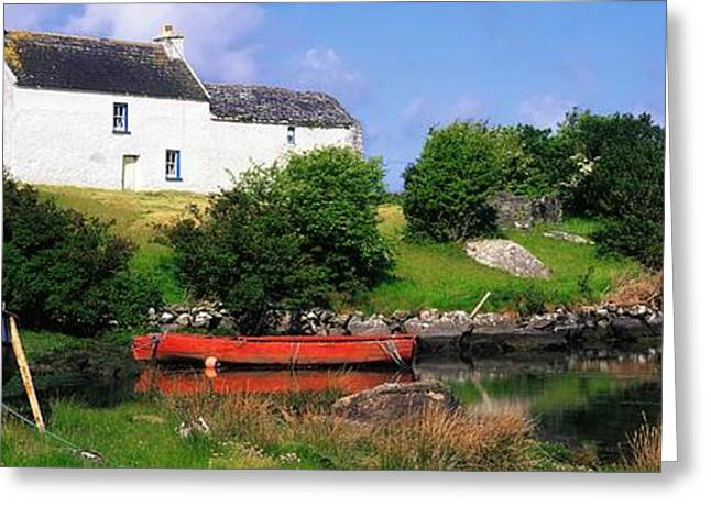 Wooden Building Greeting Cards - Ballycrovane, Beara Peninsula, Co Cork Greeting Card by The Irish Image Collection