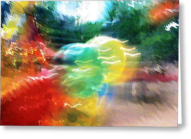 Baloon Greeting Cards - Baloons n Lights Greeting Card by Anil Nene