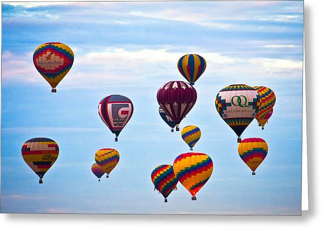 Baloon Greeting Cards - Baloons Greeting Card by Ralf Kaiser