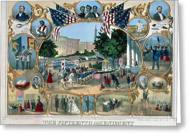 15th Amendment Greeting Cards - BALTIMORE: 15th AMENDMENT Greeting Card by Granger