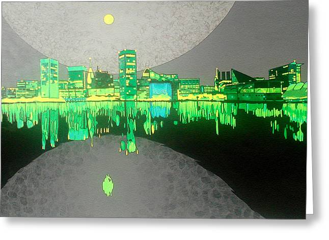 Ocean. Reflection Greeting Cards - Baltimore Greeting Card by Jason Allen