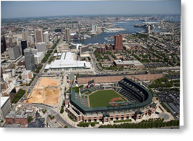 Oriole Park Greeting Cards - Baltimore: Oriole Park, 2006 Greeting Card by Granger