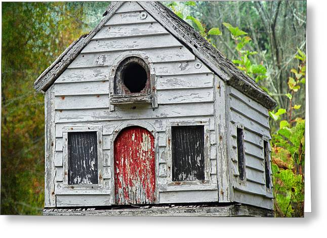 Steven Michael Photography And Art Greeting Cards - Baltimore Woods Birdhouse Greeting Card by Steven  Michael