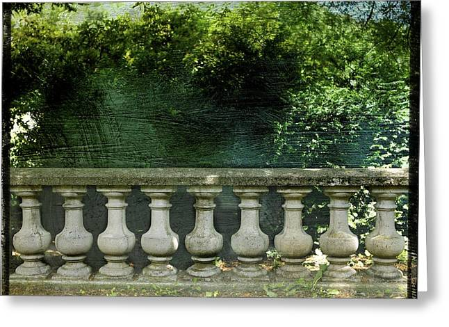 Sidewalks. Arches Greeting Cards - Balustrade Greeting Card by Bernard Jaubert