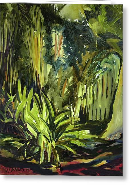 Julianne Felton Greeting Cards - Bamboo Garden I Greeting Card by Julianne Felton