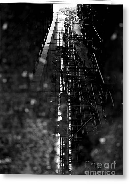 Backstreets Greeting Cards - Bamboo Reflections Greeting Card by Dean Harte