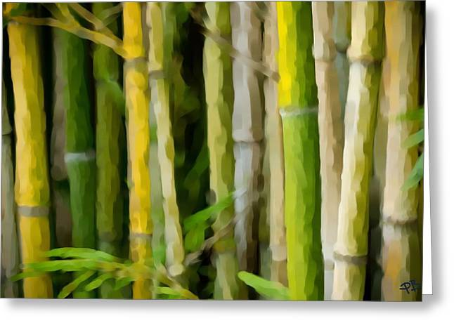 Bamboo Zen Greeting Card by Paul Bartoszek