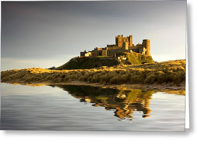 Short Sands Greeting Cards - Bamburgh Castle Bamborough Greeting Card by John Short