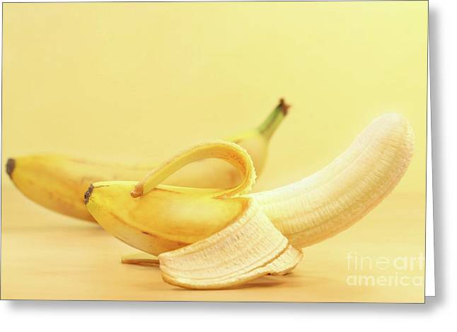Bananas Greeting Card by Sandra Cunningham