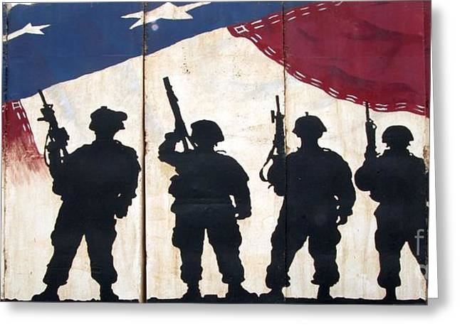 Iraq War Greeting Cards - Band of Brothers - Operation Iraqi Freedom Greeting Card by Unknown