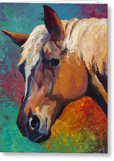 Rodeos Greeting Cards - Bandit Greeting Card by Marion Rose