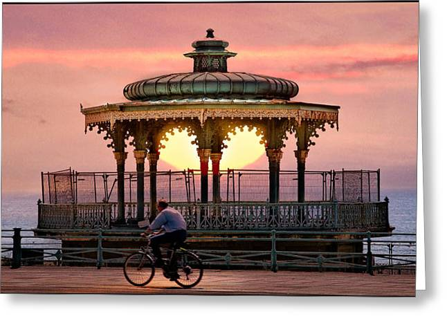 Seaside Digital Art Greeting Cards - Bandstand Greeting Card by Chris Lord