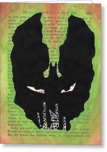 Gotham City Paintings Greeting Cards - Bane Silhouette Greeting Card by Jera Sky