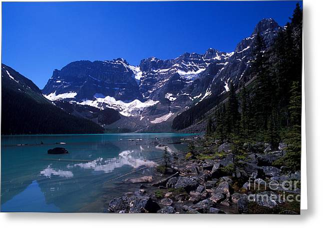 Cirque Greeting Cards - Banff - Cirque Lake Greeting Card by Terry Elniski