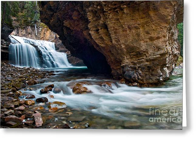 Johnston Greeting Cards - Banff - Johnston Canyon 3 Greeting Card by Terry Elniski