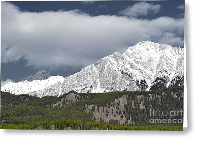 Rocky Mountain National Park Framed Prints Greeting Cards - Banff Majesty Greeting Card by Andrea Hazel Ihlefeld