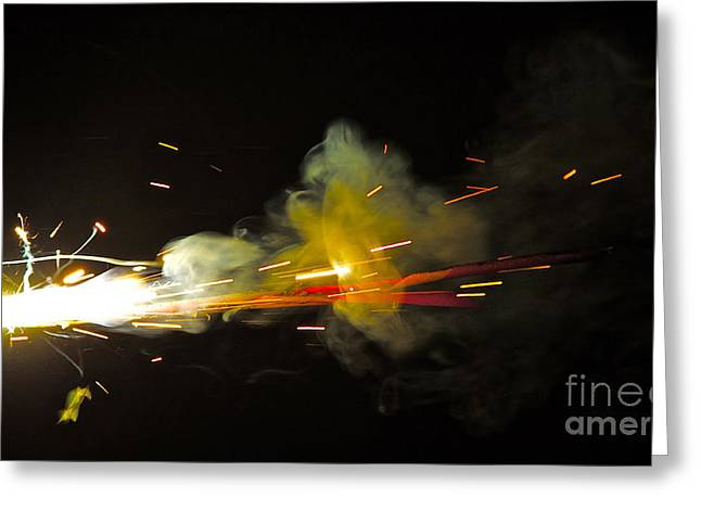 Pyrotechnics Greeting Cards - Bang Greeting Card by Xn Tyler