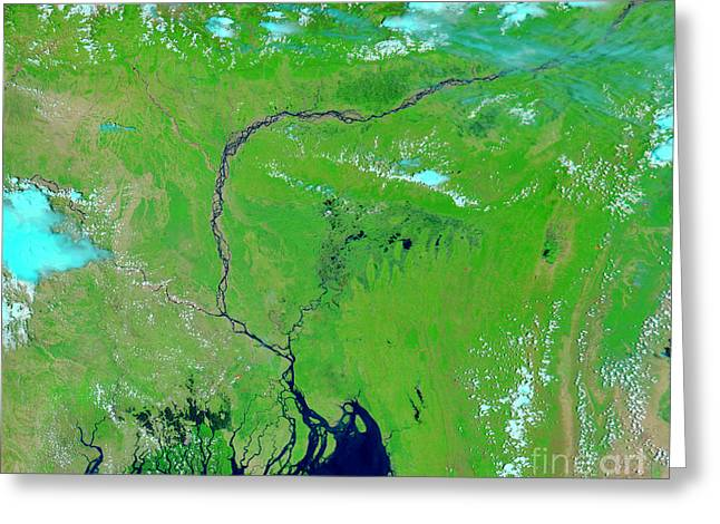 Bangladesh Greeting Cards - Bangladesh Greeting Card by Nasa