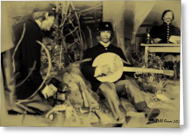 Banjo Playing Union Soldier Greeting Card by Bill Cannon
