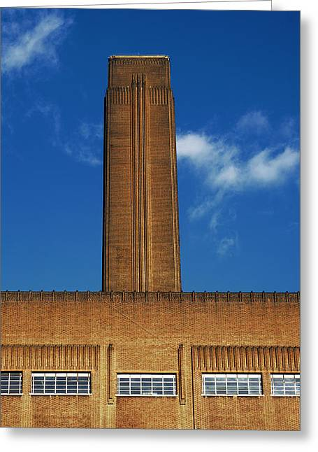 Redundant Greeting Cards - Bankside Power Station Greeting Card by Carlos Dominguez