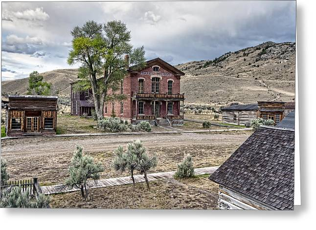 False Front Greeting Cards - Bannack Ghost Town Main Street - Montana Greeting Card by Daniel Hagerman